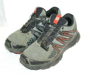 3f4ab6db60 Salomon X-Mission 3 Trail Running Shoes , Men Sz 8 , Green Black ...