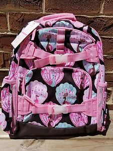 Image Is Loading Pottery Barn Kids McKenzie Backpack Pink Peacock Size