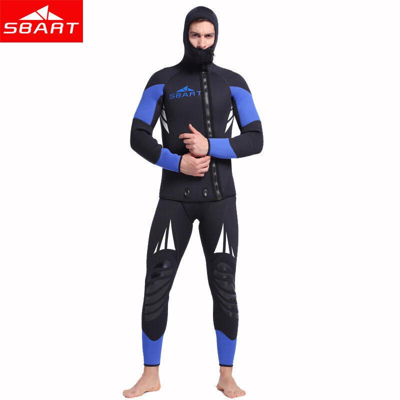 SBART Men's 5mm Neoprene Wetsuit Spearfishing Swimming Diving Snorkeling Suits