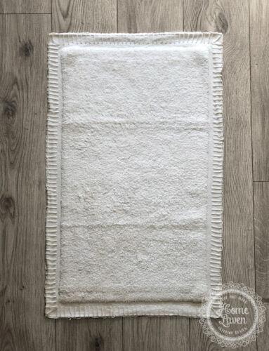 Badteppich Duschvorleger Badematte /'Fulvio/' 50 x 80 weiß Baumwolle Skandi