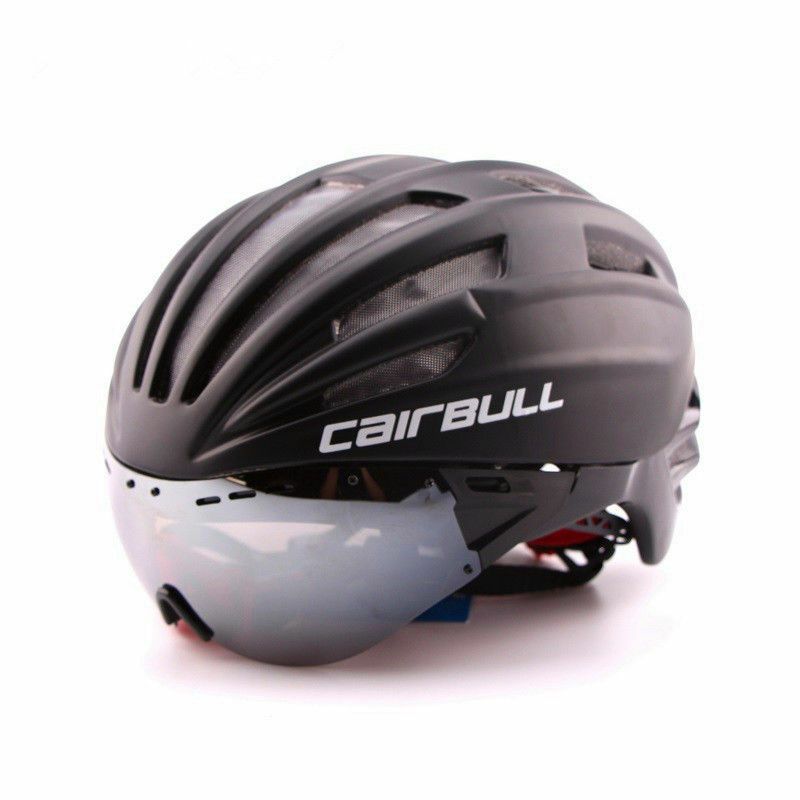 Cycling MTB Bike Helmet with Sun Visor Goggles Bicycle Road Safety Shield Race
