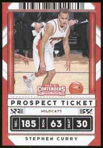 2020-21 Contenders Draft Picks Prospect Tickets Variation #1 Stephen Curry