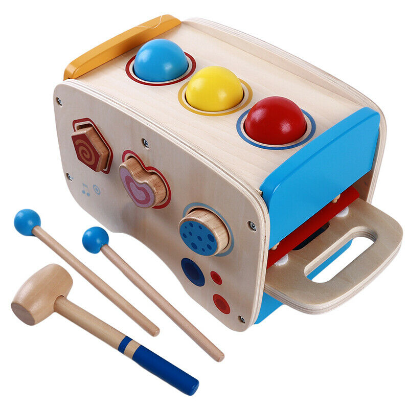 Baby Wooden Hammering Toys + 8 Notes Xylophone + Shape color Recognition Toys Z