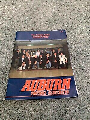 1986 Auburn Tigers v Georgia Bulldogs Football Program 11 ...