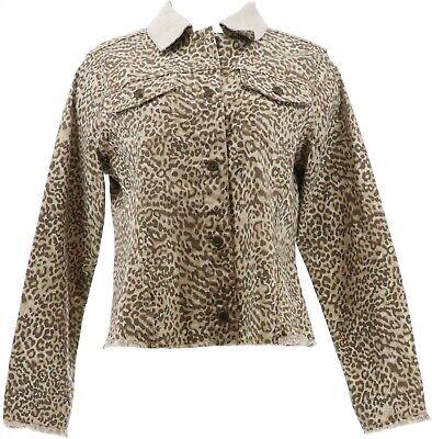 Punctual Dg2 Diane Gilman Reversible Twill Denim Jacket Khaki S New 712-767