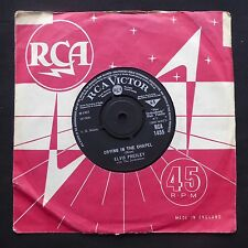 "ELVIS PRESLEY Crying In The Chapel / Man In The Sky RCA VICTOR UK Orig 7"" 45"