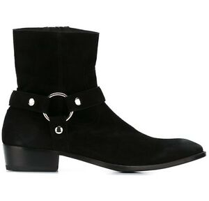5a6adae6d19 Details about Handmade Men's Black Suede Biker Boot, Mens Suede Leather  Ankle Boot, Mens boot