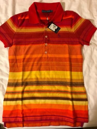 Size Lauren Xs Ralph Women Ladies Shirt Polo New Bv1qwaSY