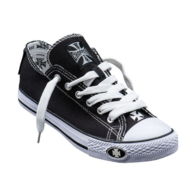 shoes BY WEST COAST CHOPPERS WARRIOR(BLACK WHITE)LOW-TOP SIZE EU (TG 41) UNISEX
