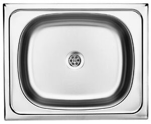 Edelstahl 1 Becken Spüle, Küchenspüle, Spüle, Küche   eBay