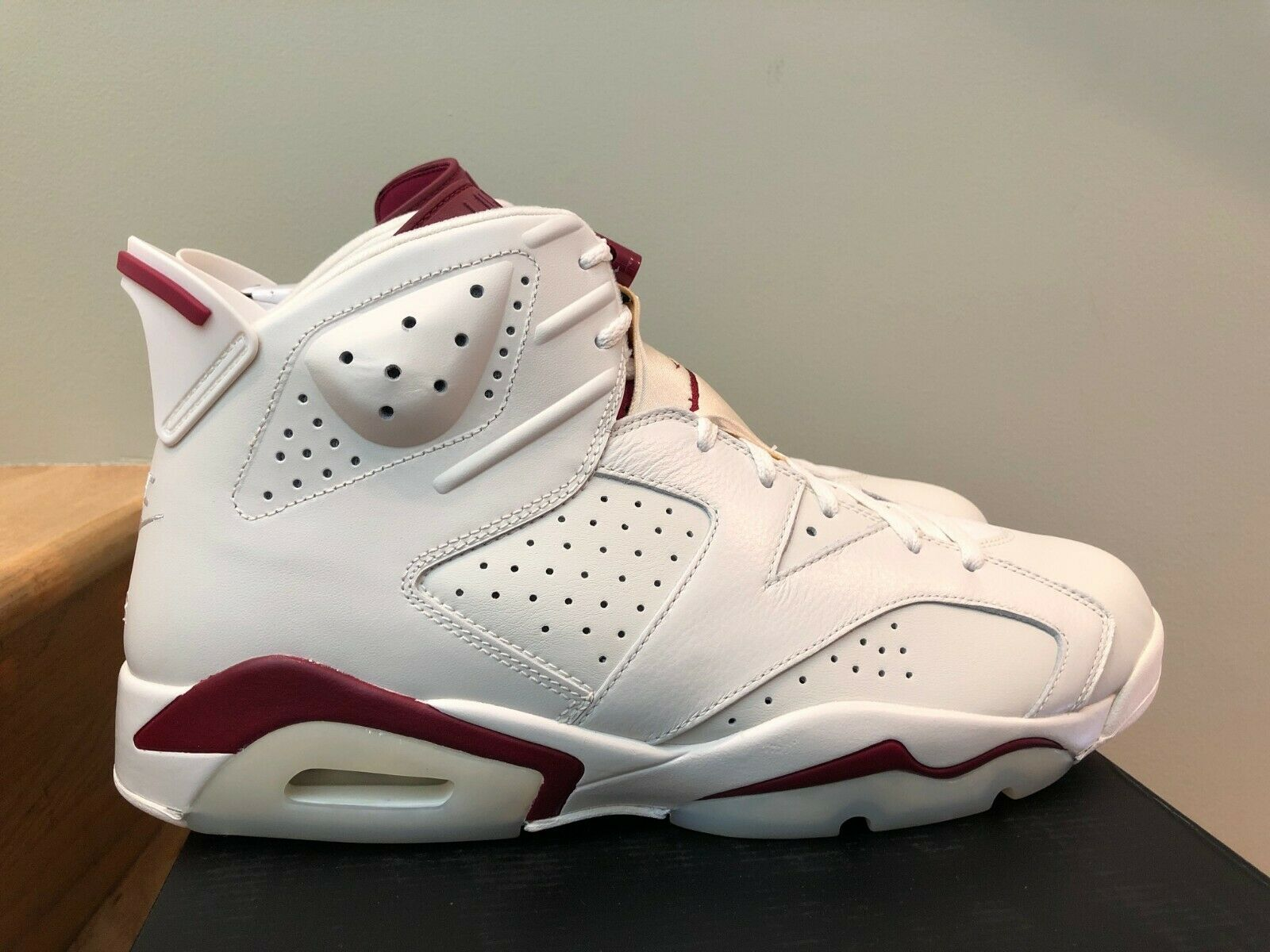 Nike Air Jordan 6 VI Retro White Maroon Red Red Red size 13 85d025