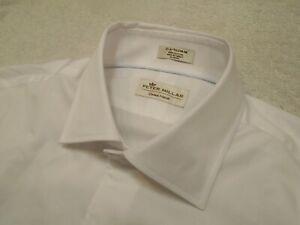 Peter-Millar-100-Cotton-Crown-Finish-White-Dress-Shirt-NWT-15-5-x-32-33-145