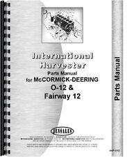 International Harvester Fairway 12 Tractor Parts Manual