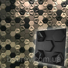 3D Decorative wall panels ABS Plastic molds for Plaster Gypsum alabaster ORIGAMI