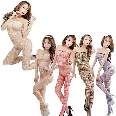Unique Sexy Lingerie Fishnet Open Crotch Cights Nightwear Babydoll Underwear