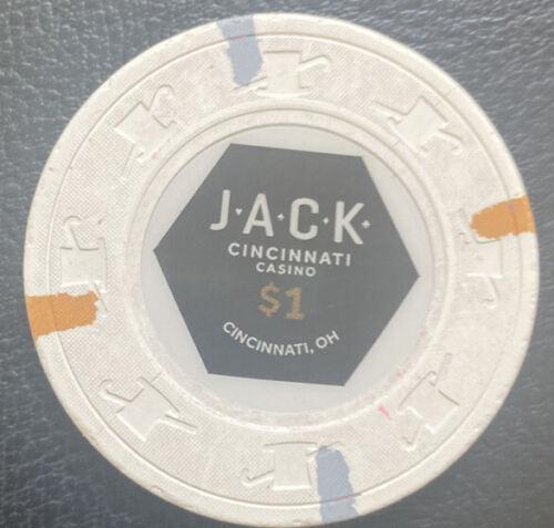 Paulson Hat And Cane H/&C Rare JACK Casino $1 chip Cincinnati Ohio