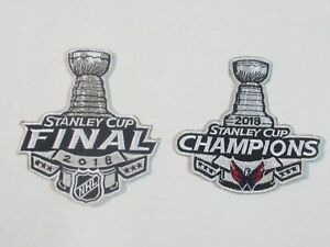 quality design 8a221 681e1 Details about 2 Pack 2018 Washington Capitals NHL Stanley Cup Finals &  Champions Sewn On Patch