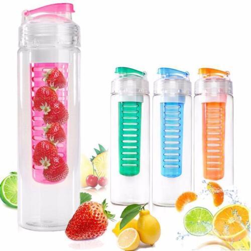 Flasche Mit Früchteeinsatz Trinkflasche Früchte Fruits Behälter Fruchteinsatz P//
