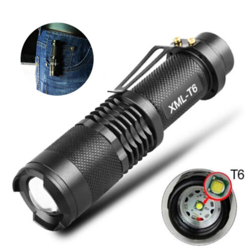 50000LM T6 Tactical LED Flashlight Zoomable Torch Lantern Camping Lamp 5 Modes