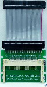 ???? Amiga 600 & Amiga 1200 44 Pin Cf Adaptateur + Nappe Ide De 5 Cm ???? Complet Dans Les SpéCifications