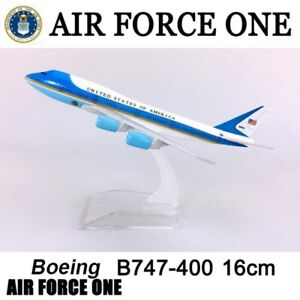 16cm 1 400 Airplane Boeing B747 300 Model Air Force One Alloy