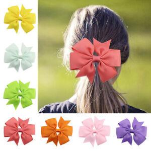 Baby-Girl-Headband-Ribbon-Hair-Clip-Bowknot-Women-Hair-Band-Hairwrap-Clip-New