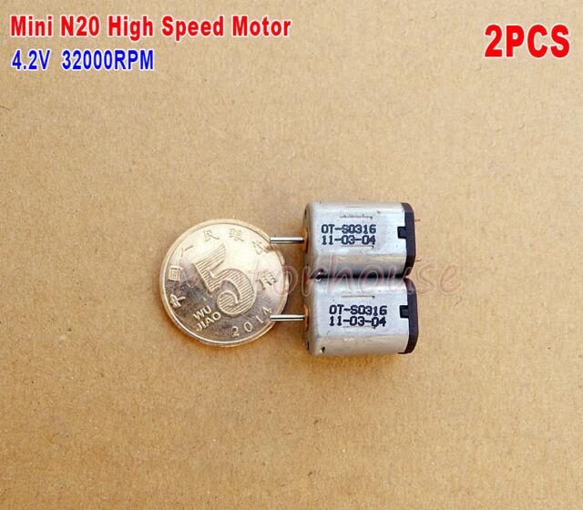 2PCS DC3V 3.7V 32000RPM High Speed Mini N20 Motor Blades DIY RC Aircraft Model