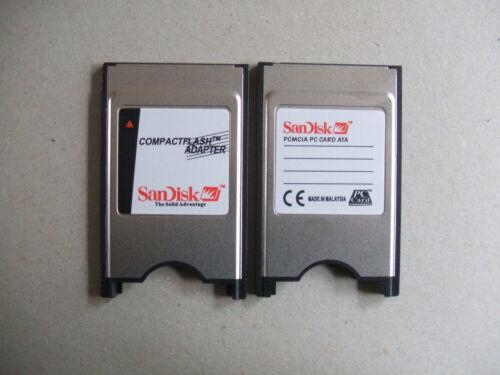 UK Stock Sandisk Laptop PCMCIA  PC CF Compact Flash Memory Card Reader Adapter