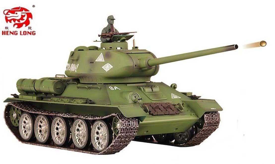 Heng Long Radio Remote Control RC Tank T34 Platinum 1 16 All Metal Road Wheels