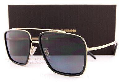 Brand New Dolce & Gabbana Sunglasses DG 2220 0281 Black GoldGrey For Men | eBay