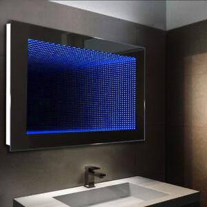 Bathroom Infinity Mirror 3D Tunnel LED Illuminated Effect ...