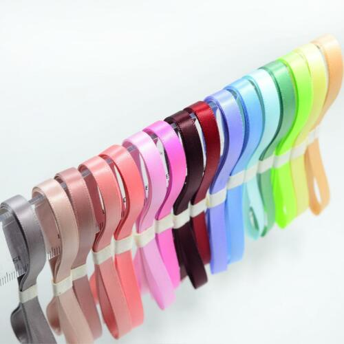 16x 1 Yard Double Sided Satin Ribbons for DIY Hair Bow Gift Wrapping 6mm