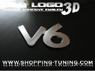 LOGO EMBLEM 3D TUNING V6 MERCEDES CLS CLK