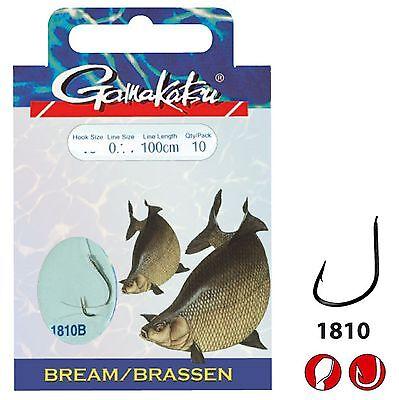 Brassen-Haken 25 Stück Gamakatsu Haken 2210B Größe 8+10+12+14+16 Feedern