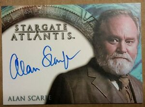 Stargate-Atlantis-Autografo-Scheda-Alan-Scarfe-Cancelliere-Druhin