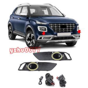 2020-2021-For-Hyundai-Venue-LED-Driving-Lights-Front-Bumper-Fog-Lights-2pcs