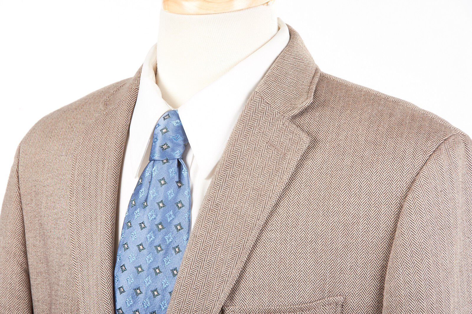 Herren BANANA REPUBLIC Sport Coat 42 S in Taupe Braun Herringbone Brushed Cotton