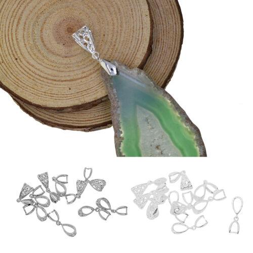 20Pcs Flowers Pendant Findings Bails Connectors Bale Pinch Clasps DIY Crafts