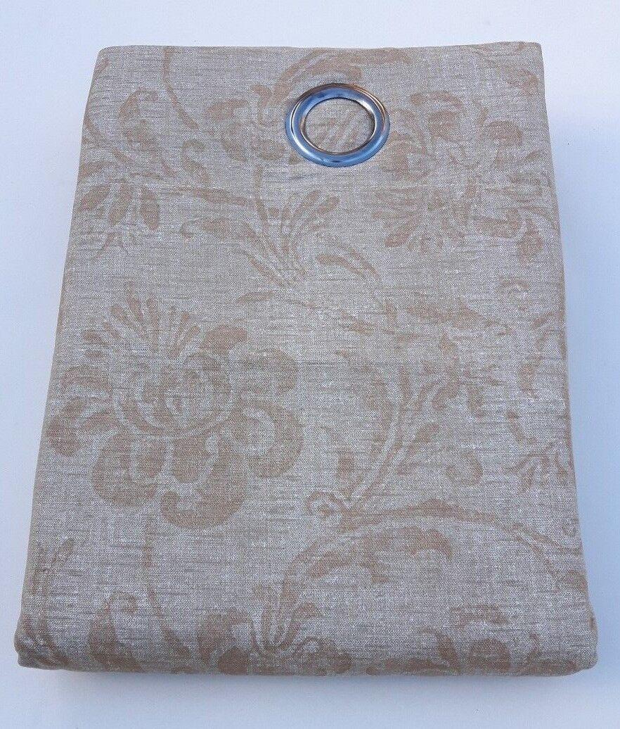 Completamente Completamente Completamente foderato Stone Naturale Self Con Motivo Cotone Tende Con Anelli superiori di grande qualità 4cd957