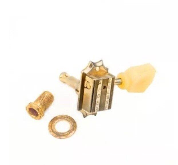 Faber FKT33BB-GA Premium Kluson style tuners 3 Bolt Bushing Gold Aged 3506-3