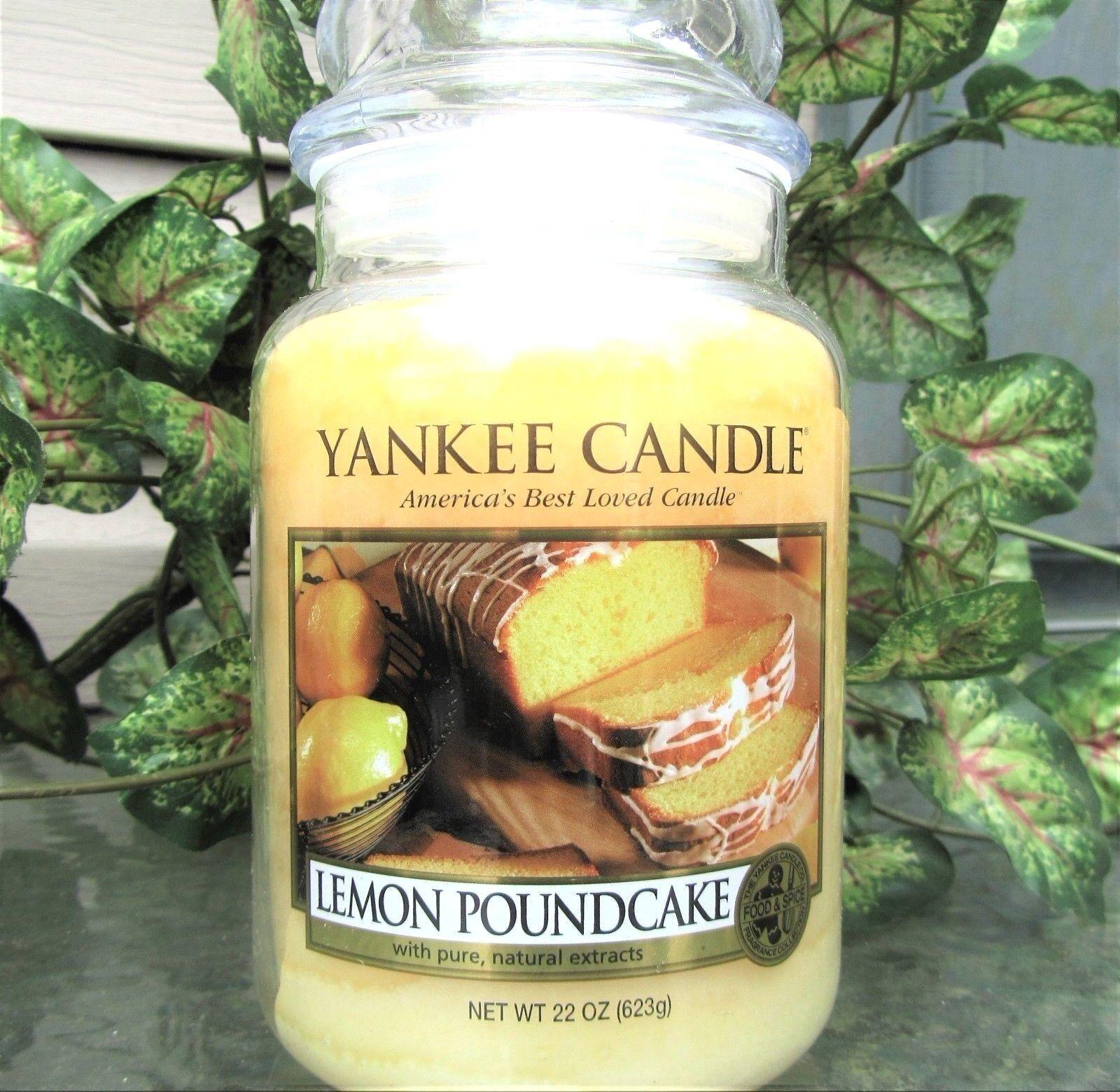 Yankee Candle Retired  LEMON POUNDCAKE FoodLarge 22 oz  WHITE LABELRARENEW