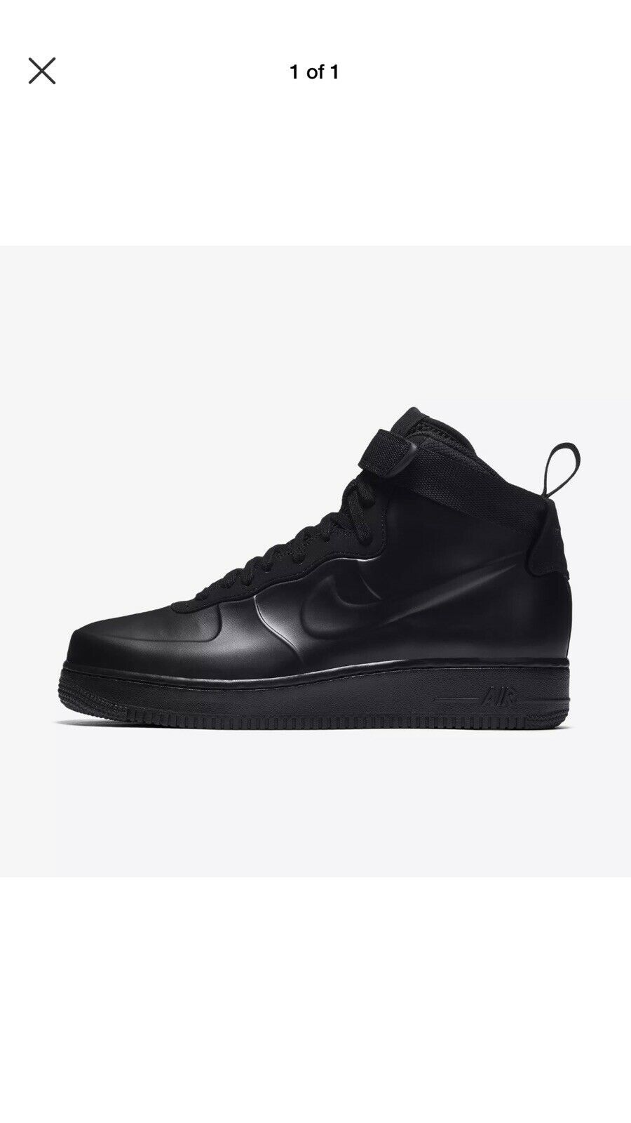 Mens Nike Air Force 1 Foamposite Cupsole Triple Black AH6771-001 Sz 11.5