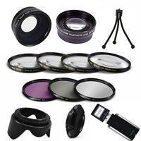 Zoom Lens + Wide Angle Lens + Tripod +usb For Nikon D3400 Nikon Af-p 18-55mm