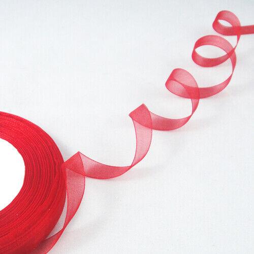"""Free Shipping 50 Yards 3//8/"""" Sheer Organza Ribbon Craft//Wedding//Party 10mm"""