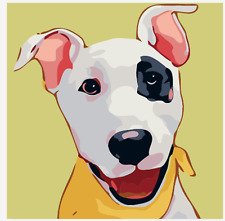"""New 16x20"""" DIY Acrylic Paint By Number kit Oil Painting On Canvas Cute Dog 1483"""