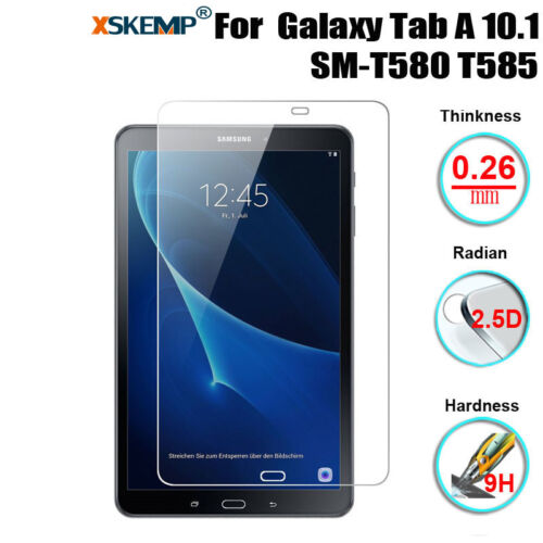 1//2x Tempered Glass Screen Protector For Samsung Galaxy Tab A 10.1 SM-T580 T585