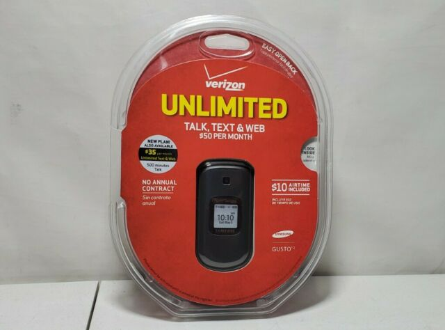 BRAND NEW SEALED Samsung Gusto 2 SCHU365HPP Verizon Cellular Phone Unlimited