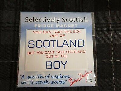 "Scotland Fridge Magnet /"" Driech /"" Home decor Scottish Wisdom Scottish Dialect"