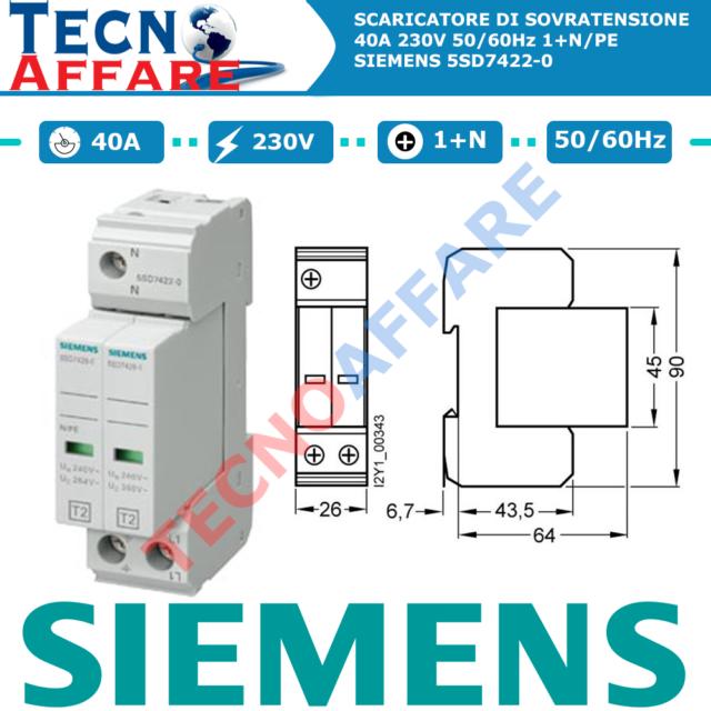 Sganciatore di Sottotensione Bobina 110V 50Hz Siemens 3RV2902-1AF0