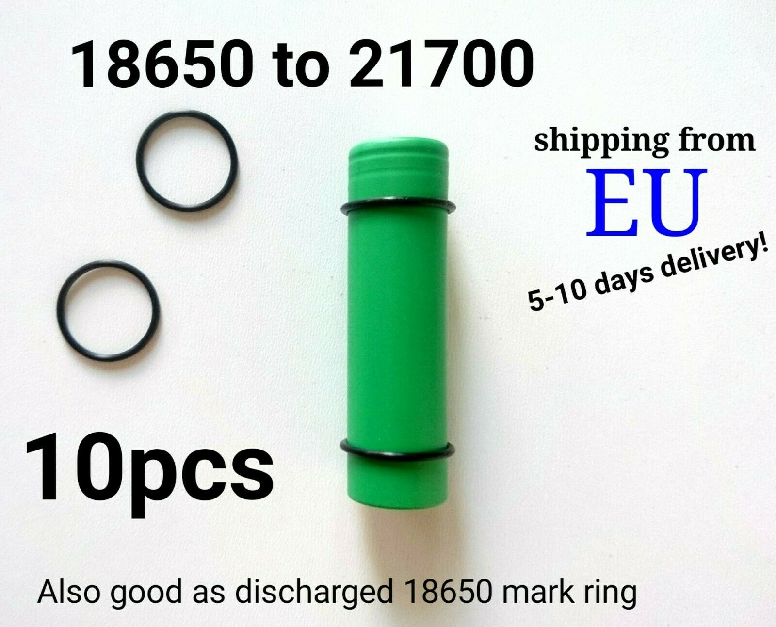 18650 To 21700 Reduction adapter / discharged battery mark ring 10pcs